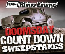 Rhino Linings Doomsday Countdown Sweepstakes