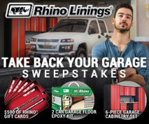 Rhino Linings Take Back Your Garage Sweepstakes