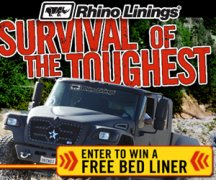 Win a Free Rhino Liner - Spray-on Truck Bed Liner from Rhino Linings