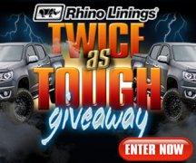 Rhino Linings® Twice as Tough Sweepstakes